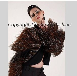 One-of-a-kind-Bob-Mackie-ostrich-jacket-bolero-Theatrical-Details-Sz-M-US-6