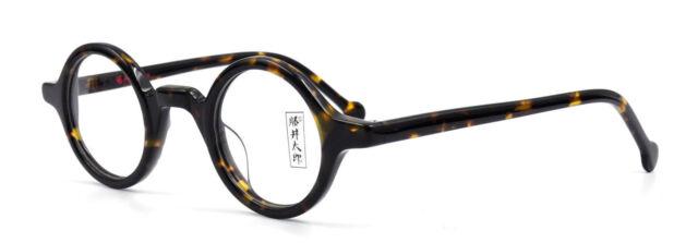 Vintage Round Tortoise Eyeglass Frames Acetate Full Rim Glasses ...