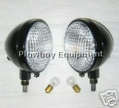 New HEAD LIGHT PAIR for ALLIS CHALMERS B C CA 6 or 12 Volt