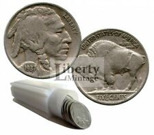 Full Date Buffalo (Indian Head) Nickels Mixed Five Cent Lot - 40 Coin Roll