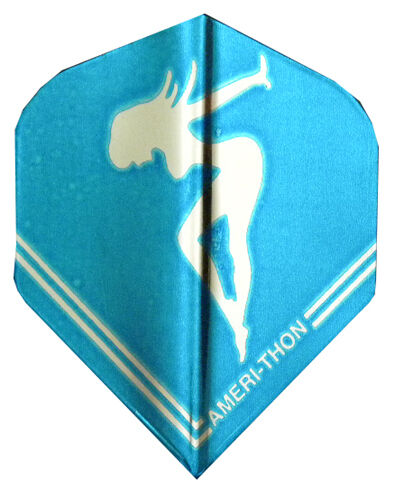 The Best Dart Flights Silver Chrome Girl Standard Sets AMERitHON 5 Blue