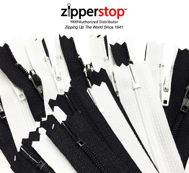 Made in USA 5pcs Ykk Number 3 Nylon Coil Separating Zippers Bulk for Tailor Sewing Crafts Color Black 36 inches
