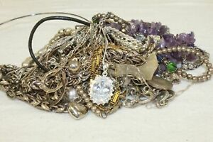 322.3 Grams, Mixed Lot of Silver, 925 Jewelry Pieces For Scrap or Arts & Craft.