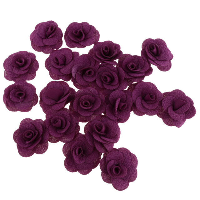 Lots 20pcs Artificial Silk Fake Rose Flower Heads Bulk Wedding