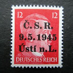 Germany Nazi 1941 1944 1945 Stamp MNH Adolf Hitler Overprint WWII Third Reich Ge