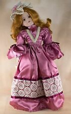"Seymour Mann Debbie Porcelain Collector's Doll 17"" Red Hair Brown Eyes With Box"
