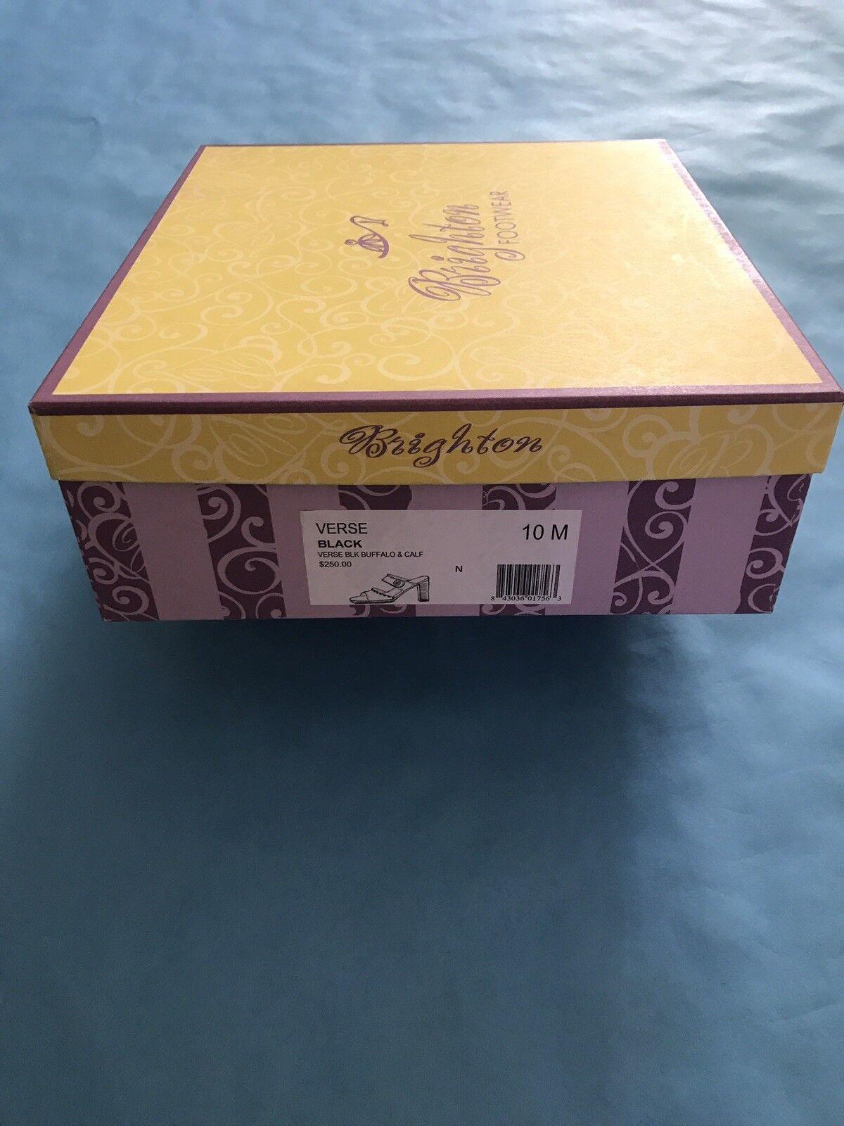 Brighton chaussures New Style  Verse BLK Buffalo & Calf Calf Calf Taille  10 M 364e61