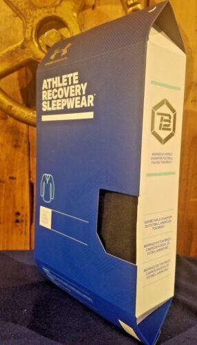 Under Armour Women/'s Athlete Recovery Sleepwear L Long Sleeve Henley Black TB12