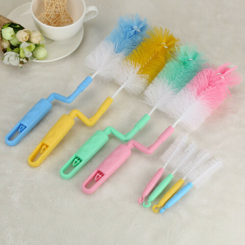 Baby Bottle Feeder Glass Teat Brush Twin Pack Small /& Large Tool Cleaning
