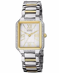 Citizen-Eco-Drive-Women-039-s-EM0194-51A-Diamond-Bezel-Two-Tone-Watch