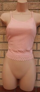 AYANAPA-Pink-Cut-Out-Trim-Detail-Riemchen-Nude-Crop-Sexy-Tube-Top-Bluse-Cami-10