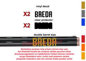 Breda Autocollant Vinyle Autocollant Pour Carabine/fusil/case/gun Safe/voiture/breda 1-afficher Le Titre D'origine Finement Traité