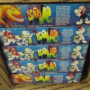 5-BOX-LOT-8-Packs-Bone-Comic-Collector-Trading-Cards-Box-Comic-Images