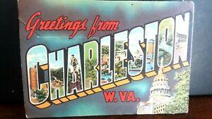 VINTAGE-SOUVENIR-POST-CARD-Charleston-West-Virginia-Post-Card-Fold-Out-1930