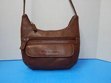 Vintage Stone Mountain Leather Cross-Body Handbag Purse Brown Color