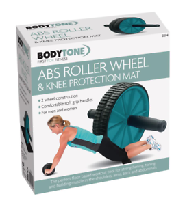 Ab Exercisers & Hoops Dual Ab Wheel Roller Knee Mat Workout Training Fitness Exercise Gym Equipment