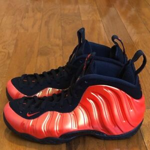 "buy online 44cec eff49 Details about DS Nike Air Foamposite One ""Habanero Red"" sz 7 Penny Hardaway  Foams Eggplant"