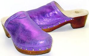 UGG Australia Evie Purple Glitter Clogs Girl's 34 US Shoe ...