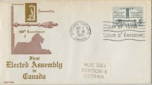 CANADA-1958-200th-Anv-First-Elected-Assembly-FDC-JD2228