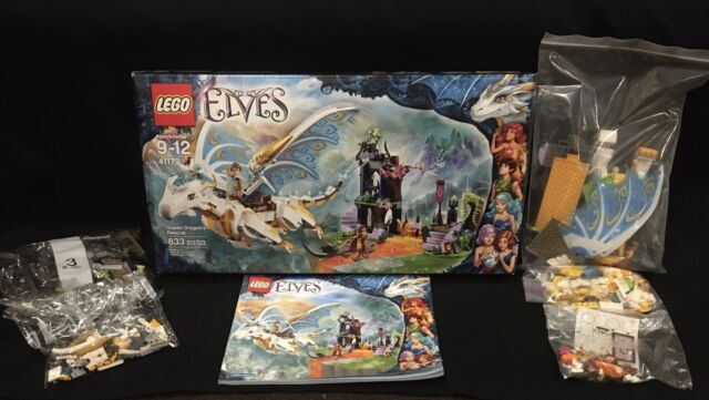 Lego Elves Queen Dragon's Rescue (41179) Complete w/ Manual- Bags 3 & 7 Sealed