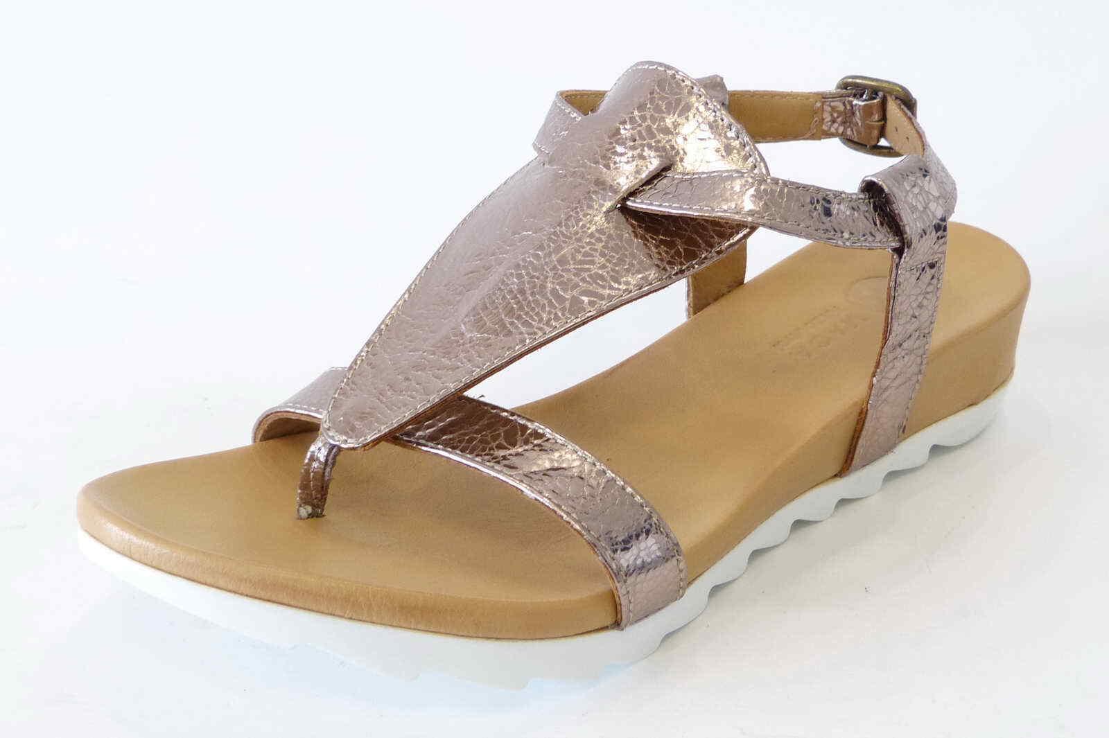 Maca Kitzbühel Zehentrenner Sandale 2213 moutongold metallic Dianette Leder