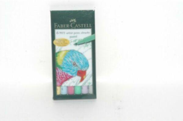 fabercastell india ink 6 pitt artist pen brush pastel