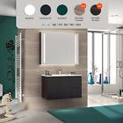 Mobile bagno arredo moderno in legno design sospeso salva spazio lavabo incluso