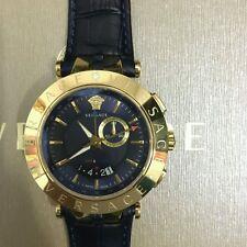 Men's Versace V-Race Watch Gold Navy Blue 29G70D282-S282