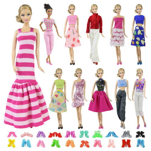 """5 Sets 11.5/"""" IN Doll Clothes Mix Shirt /& Pants 5 Pairs Shoes Accessories Random"""