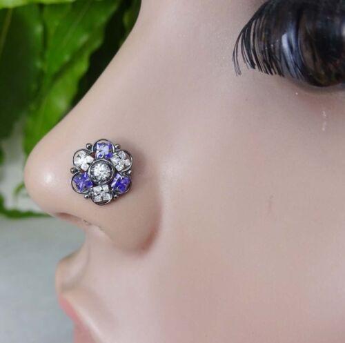 Large Nose Piercing Indian Nose Stud Black Nose Hoop Nose Ring Mother Day Sale