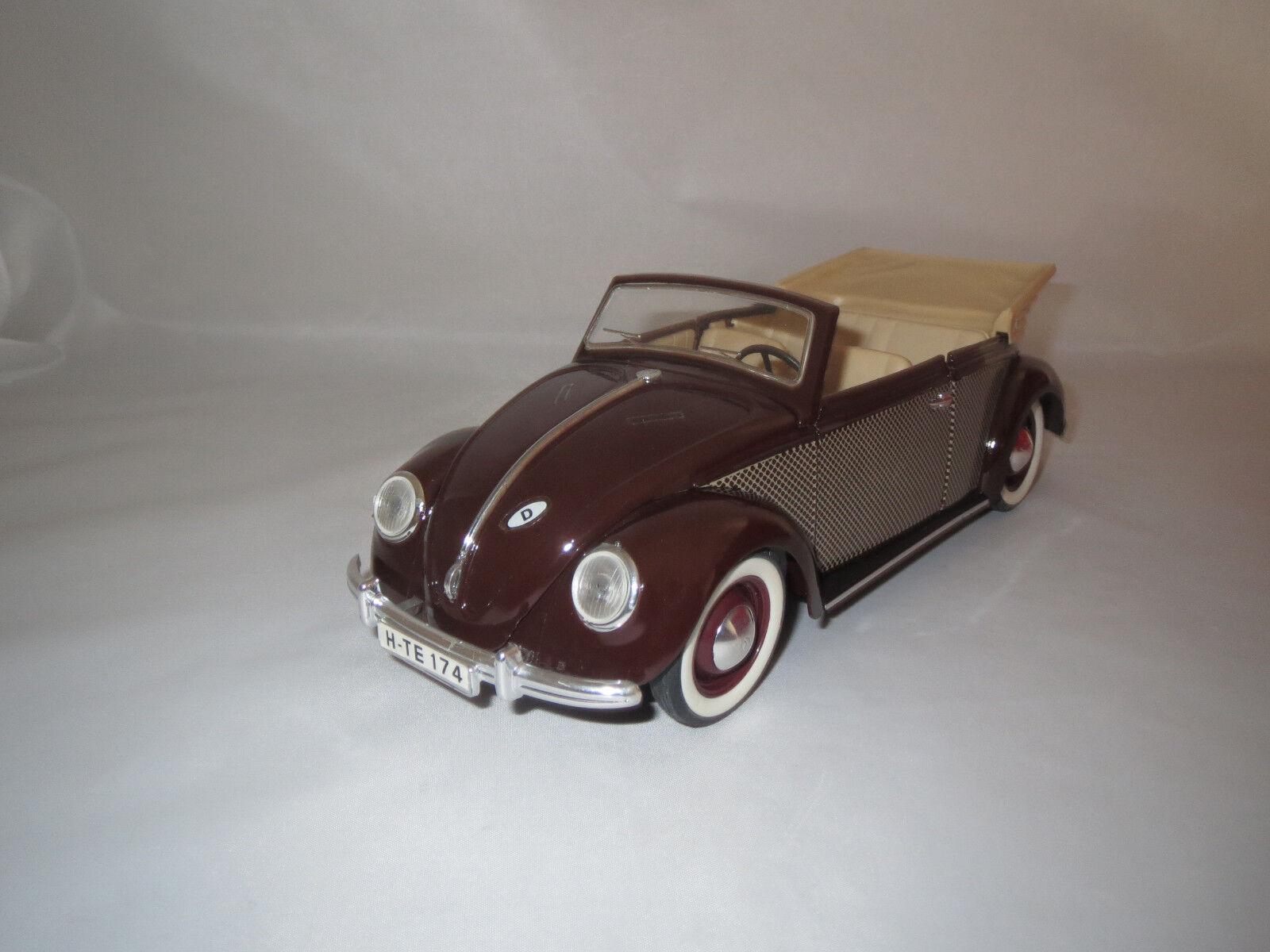 Solido volkswagen coccinelle cabriolet  brun  1 17 sans emballage