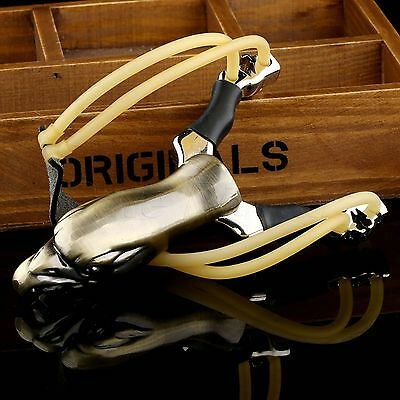 Eagle Style Stainless Steel Sturdy Slingshot Sports Hunting Competetion Catapult