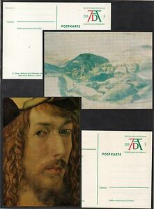 ALBRECHT-DURER-PEINTURE-1971-ALLEMAGNE-4-ENTIERS-POSTAUX-ILLUSTRES-ref-3412