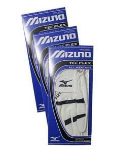 Mizuno TecFlex Pack Of 3 Golf Gloves - White