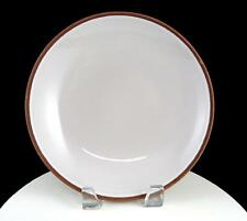 "KMK KUPFERMUHLE CERAMICS OFF WHITE BROWN TRIM ROUND COUPE 8 1/2"" VEGETABLE BOWL"