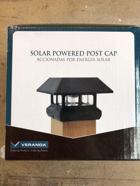 Solar Powered Led 4 X 4 Black Post Cap Light Veranda For Sale Online Ebay