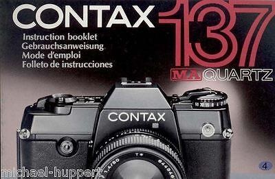 NX  Contax Bedienungsanleitung Manual Instruction