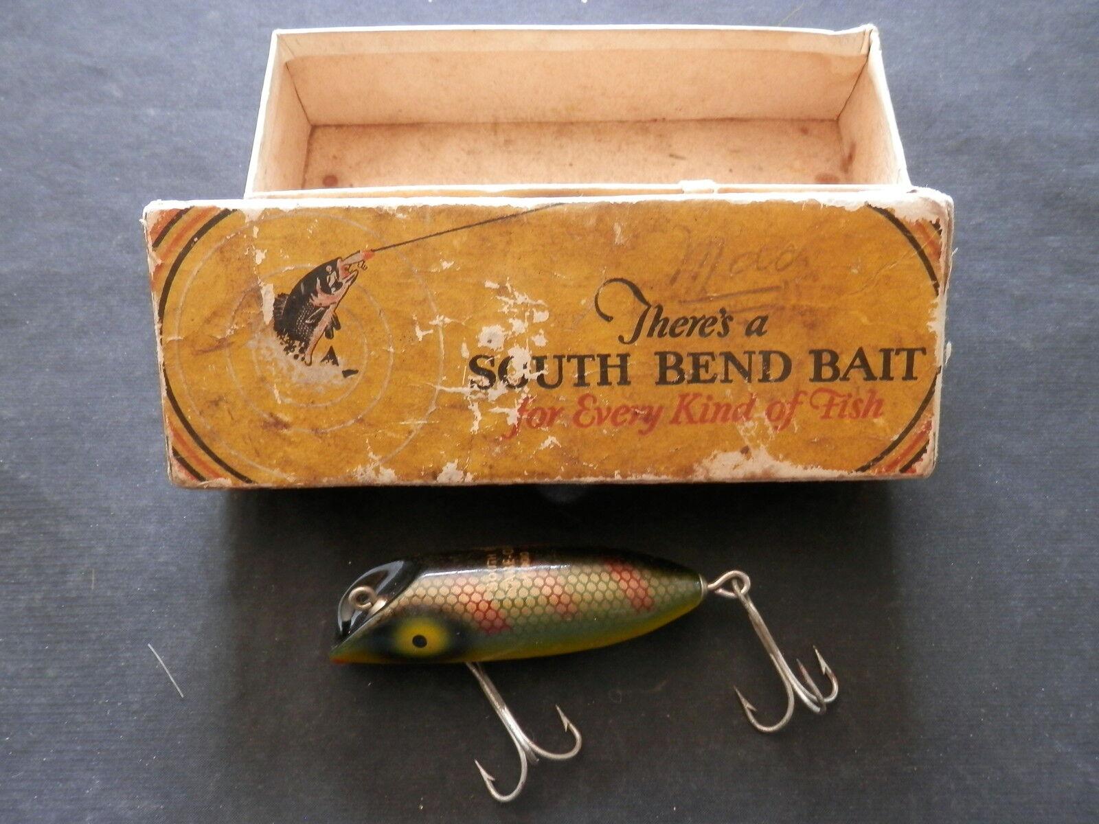 Vintage South Bend BabeOreno Wooden Lure w scatola