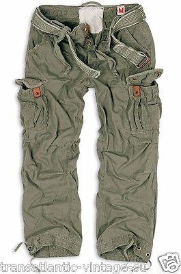 Surplus Premium Vintage Pants Army Cargo Pants Men Work Combats Olive