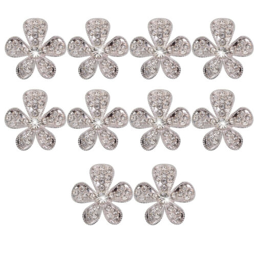10 Stücke Kristall Diamante  Tasten Flatback Verschönerung Handwerk DIY 26mm