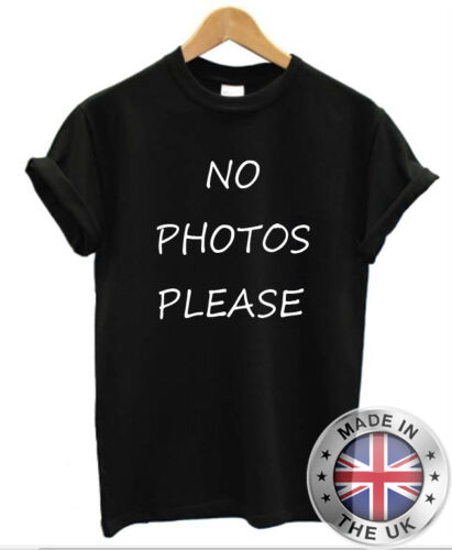 No Photos Please T-Shirt Promi Paparazzi Damen Lustiges Blogger Dope Mode