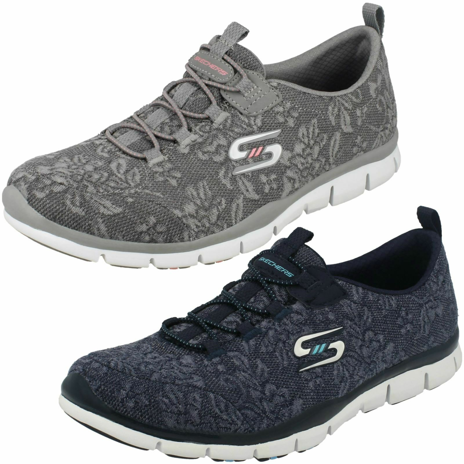 Skechers Ladies Lace Detail Trainers - Lacey 22764