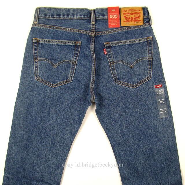 Levi s Men s 505 Regular Fit Jean, Medium Stonewash, 34Wx36L   eBay 433493428f