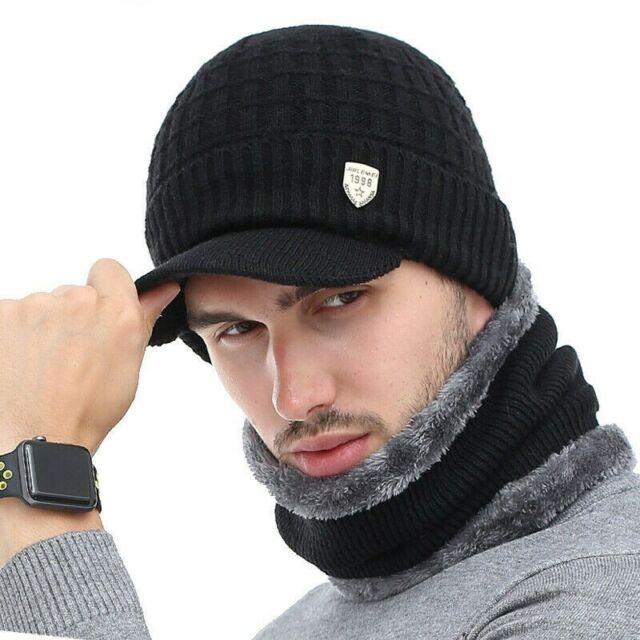 Akizon chapeau d'hiver skullies Beanies Chapeaux Hiver Bonnets Pour Hommes Femmes Laine Écharpe