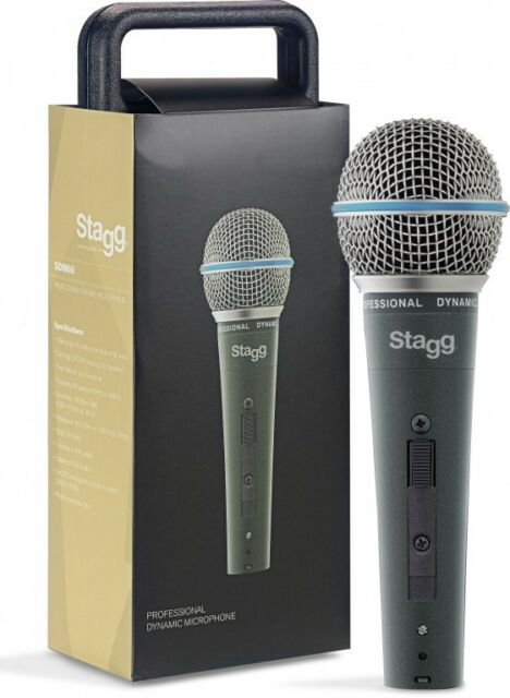 Stagg SDM60 Metal Dynamic Handheld Vocal Singing Microphone Mic inc XLR Cable