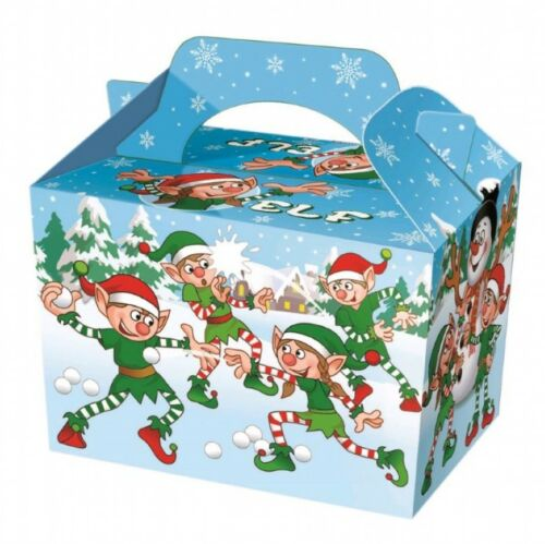 Xmas Party Food Boxes Childrens Kids Christmas Table Present Gift Box