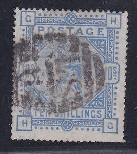 GB114-Great-Britain-1883-10-Ultramarine-on-Blued-paper