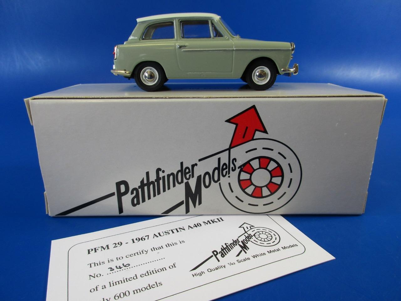 Pathfinder Modelos pfm 29 Austin A40 MKII 1967, 1 43, Excelente + RARE, MIB
