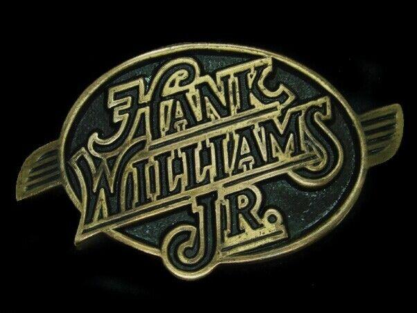 UD05169 *NOS* VINTAGE 1970s **HANK WILLIAMS JR.** MUSIC COMMEMORATIVE BUCKLE