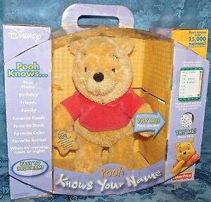 Fisher-Price-Disney-Winnie-Pooh-Know-Your-Name-Interactive-Stuffed-Bear-NEW-NIB